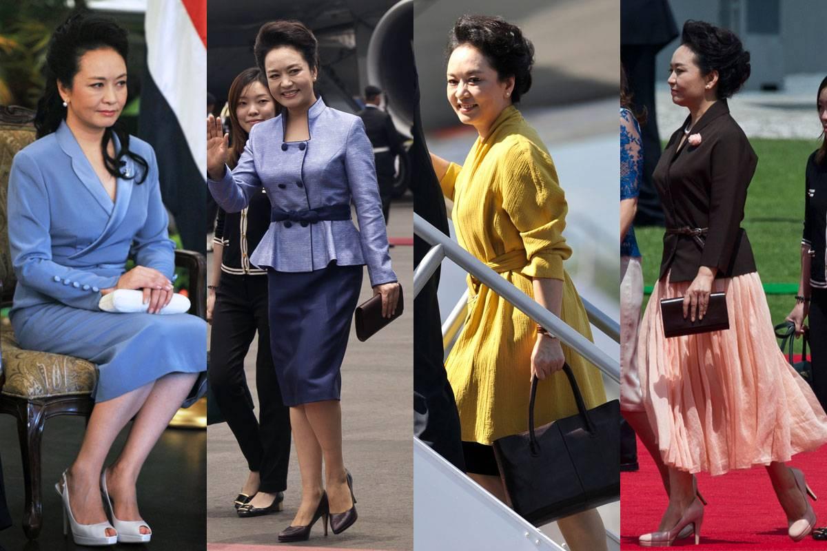2014年,彭麻麻的穿搭再次吸引了全球人民的目光。她不仅成为了大众心中的时尚偶像,更是媒体关注的焦点。小伙伴们,快来一起回顾一下彭麻麻今年的优雅装扮吧! This year, the eyes of the Chinese fashion world have been attracted by the 'Liyuan Style', which means the fashion style of Peng Liyuan, who is the first lady of China.